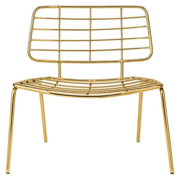כסא מוזהב של Bloomingville רק לדמיין אותו ליד השולחן.... ניתן להשיג בסוהו.