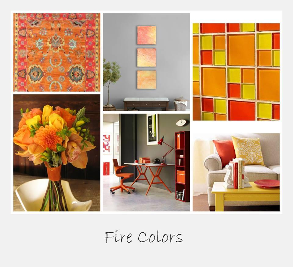 שימוש בצבעי האש בהלבשת הבית