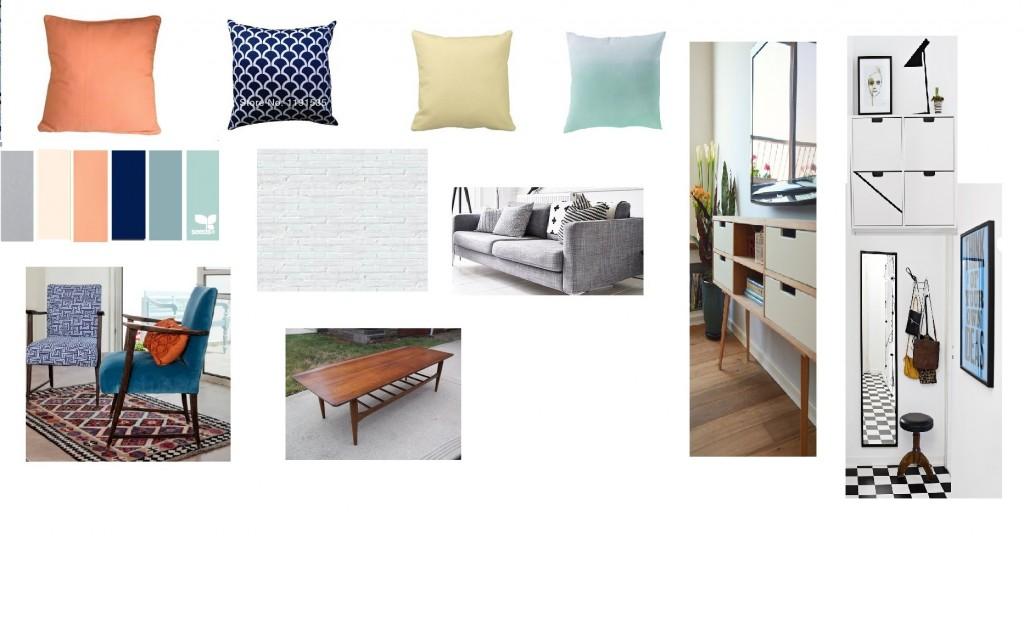 לוח השראה לדירה בהוד השרון. תכנון ועיצוב: רוית רוד