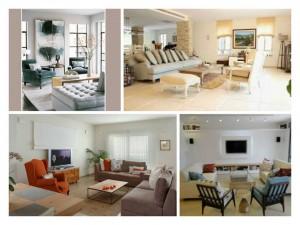 נקודת מיקוד בסלון סביבה מערך הריהוט. התמונה השמאלית העליונה: http://www.leeronedesign.com/ השמאלית התחתונה: http://www.mako.co.il/ שאר התמונות עיצוב וצילום: רוית רוד