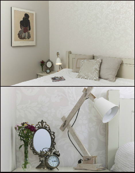 חדר שינה הורים. צבע וסטיילינג. צילום: מאיה חבקין