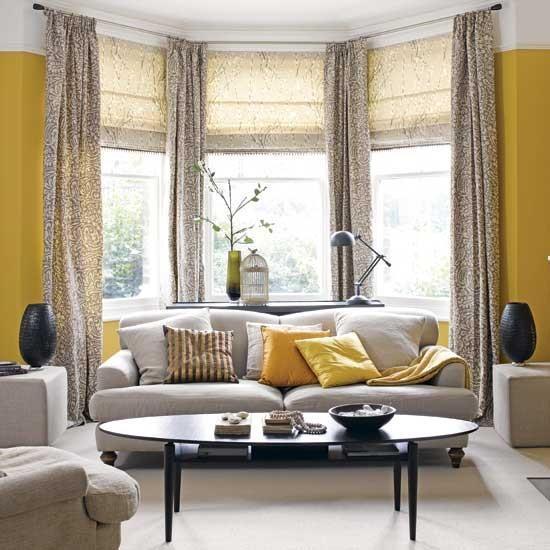 שני סוגי ווילונות על חלון אחד. מעשיר את החלל. www.houzz.com