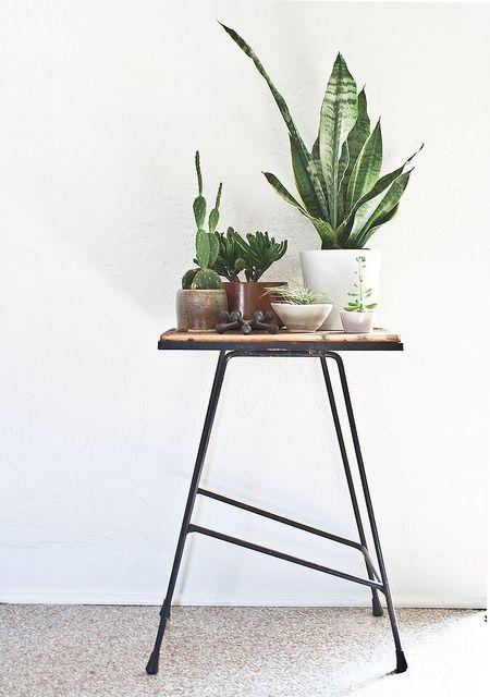 שולחן צד בסלון. פשוט וקל. www.tumblr.com