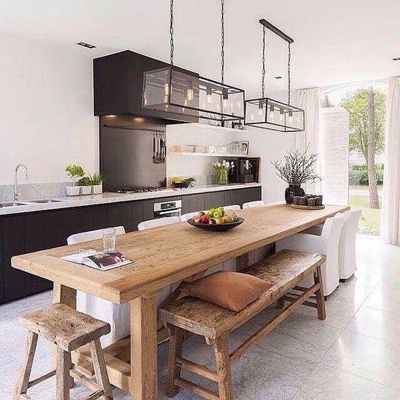המטבח היום מעוצב לא פחות מהסלון כך שאפשר להכניס לתוכו את פינת האוכל. https://www.instagram.com/immyandindi/