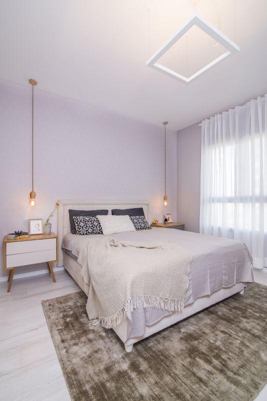 חדר שינה הורים רגוע ונעים. עיצוב: רוית רוד צילום: עידן גור