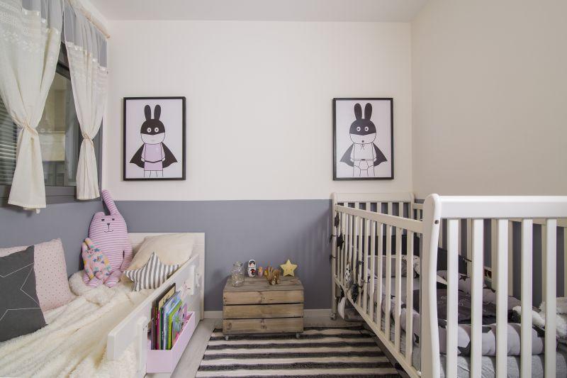 חדר לשני ילדים קטנים, בן ובת. עיצוב: רוית רוד צילום: עידן גור