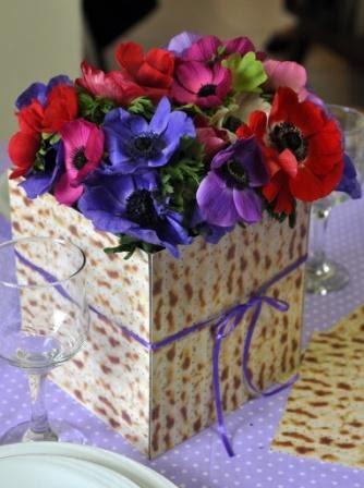 מוטיב המצה כמרכז השולחן. baitemsignon.blogspot.co.il