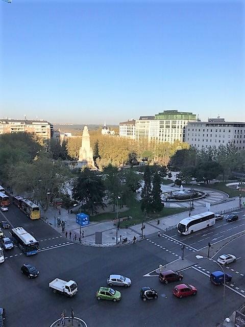 הנוף הנשקף מחלון החדר. PLAZA ESPANIA. מדריד.